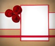 Rosetones de papel de la tarjeta del día de San Valentín, con el copyspace Foto de archivo