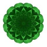 Rosett av grönt exponeringsglas royaltyfri illustrationer