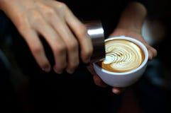 Rosetta. Beautyful Rosetta in a cup stock image