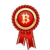 Rosetta con il simbolo del bitcoin - cryptocurrency Immagine Stock