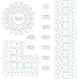 Rosetta, confine e numeri decorativi Fotografie Stock Libere da Diritti