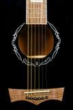 Rosetta della chitarra del primo piano fotografie stock