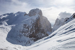 Rosetta mountain and snow Royalty Free Stock Image