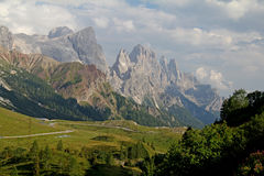 Rosetta peak and Pale di San Martino Royalty Free Stock Image