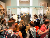 Rosetta stone in British Museum, London, UK Stock Image