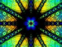 Rosette amarelo, azul e verde Fotos de Stock