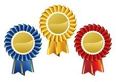 Rosette Award Set. Editable vector illustration of a rosette award set Stock Photography