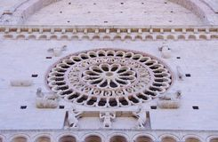 The Rosette of the basilica of san Francesco Stock Image