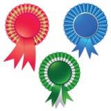 Rosette blanc de bande de récompense pour le gagnant Images stock