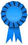 Rosette bleue Photographie stock
