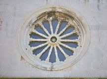 Rosette of cathedral church Royalty Free Stock Photos