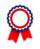 Rosette in colors of the tricolor Stock Photo