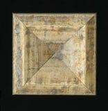 Rosette décorative carrée tétraédrique des bandes de encadrement en bois Images stock