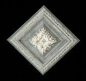 Rosette décorative carrée tétraédrique des bandes de encadrement en bois Image stock
