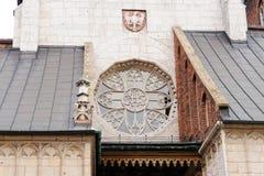 Rosette de cathédrale de Wawel Images libres de droits