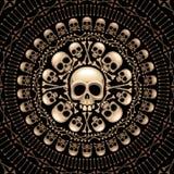 Rosette de crânes et d'os Image libre de droits