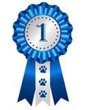Rosette de ruban de récompense de chien Image libre de droits