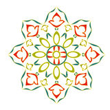 Rosette decorative ornamental floral. Classic color  vector EPS8 illustration Royalty Free Stock Photos