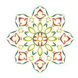 Rosette decorative ornamental floral. Classic color vector EPS8 illustration vector illustration