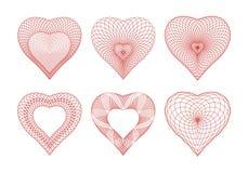 Rosette del biglietto di S. Valentino Fotografie Stock Libere da Diritti