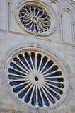 Rosette della chiesa della cattedrale Fotografia Stock