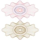 rosette för modell för cevalutaguilloche Royaltyfria Bilder