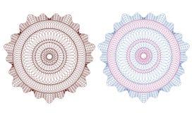 rosette för modell för cevalutaguilloche Royaltyfria Foton