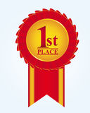 Rosette first place Royalty Free Stock Photos
