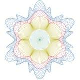 rosette för certifikatguillochemodell Arkivbilder