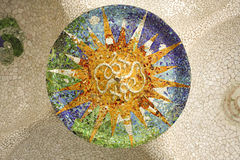 Rosette of Gaudí. Barcelona Royalty Free Stock Photography