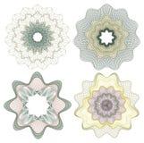 Rosette guilloche. Vector pattern rosette guilloche for document decoration Stock Images