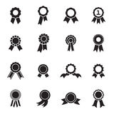Rosette icons isolated on a white background Royalty Free Stock Photography