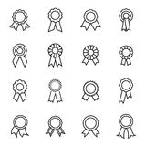 Rosette icons. Linear vector illustration Stock Photo