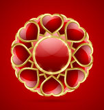 Rosette made of hearts Stock Photo