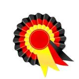 Rosette noire, rouge et jaune Image libre de droits