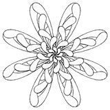 Rosette original drawing one Royalty Free Stock Photography