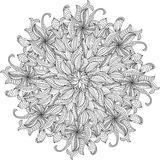 Rosette ornament. Stock Image
