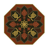 Rosette pattern05. Rosette with Arabic floral pattern Stock Photo
