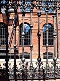 Rosette of Poznanski. Ornamental fence Poznanski old weaving mill Royalty Free Stock Photography
