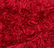Rosette red fabric Background Stock Photography