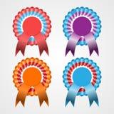 Rosette Ribbon Set Imágenes de archivo libres de regalías
