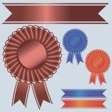 Rosette ribbons vector illustration