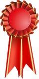 Rosette rouge de sceau de récompense Images stock
