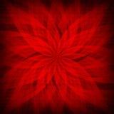 Rosette rouge - fond modelé illustration de vecteur