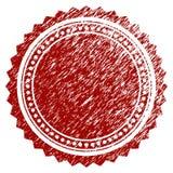 Rosette Seal ronde texturisée grunge Images stock