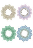 Guilloche Pattern Rosette for Certificate Rosette set for diploma certificate Royalty Free Stock Images
