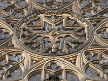 Rosette of St Vitus Cathedral. Prague. Rosette window of St Vitus Cathedral. Prague. Czech Republic Royalty Free Stock Photos