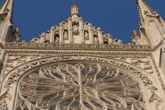 Rosette sur la cathédrale d'Amiens Photos stock