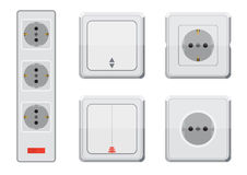 Rosette and switch light. Eps10  illustration.  on white background Stock Images