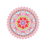 Rosette tribale décorative d'ornement de mandala Illustration de vecteur Image stock